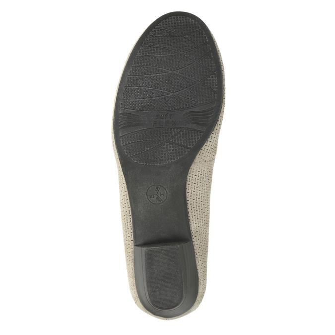 Leather pumps width H bata, gray , 623-2601 - 26
