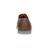 Leather shoes with transparent sole bata, brown , 826-3803 - 17