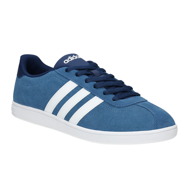 Blue leather sneakers adidas, blue , 803-9922 - 13