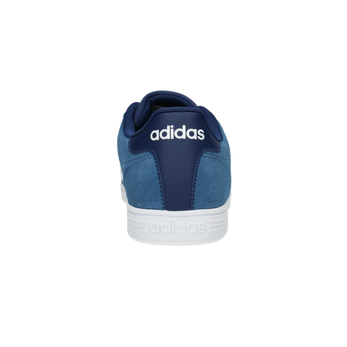 Blue leather sneakers adidas, blue , 803-9922 - 17