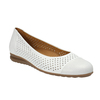 Leather ballet pumps width G gabor, white , 526-1200 - 13