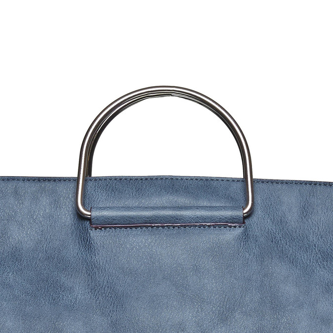 Ladies' blue handbag bata, blue , 961-9327 - 19
