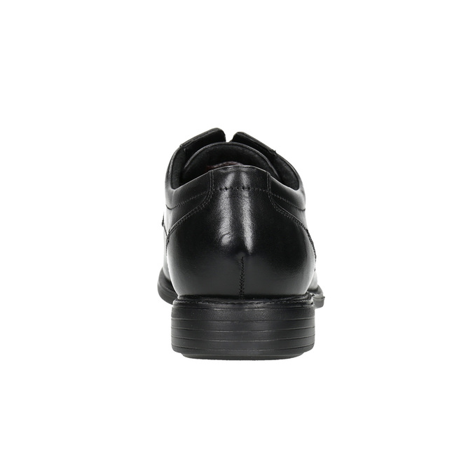 Black leather shoes rockport, black , 824-6127 - 17