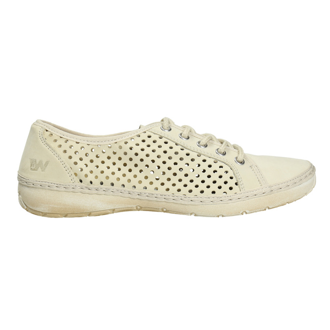 Leather shoes with perforations weinbrenner, 546-8605 - 15