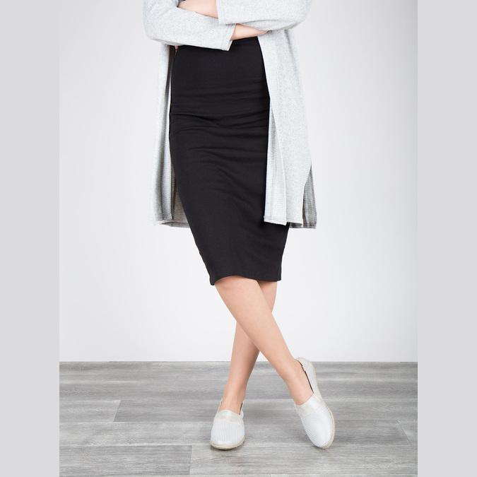 Ladies' leather slip-ons bata, white , 516-1604 - 18