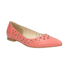 Pointed leather ballet pumps bata, pink , 524-0604 - 13