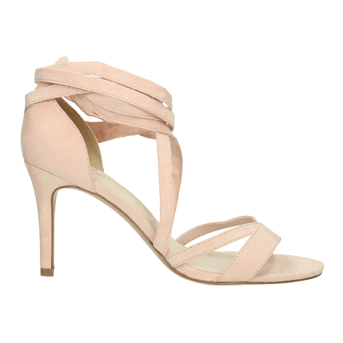 Heeled lace-up sandals insolia, pink , 769-5613 - 15