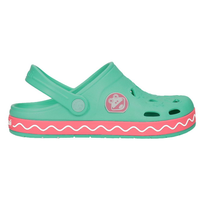 Girls' sandals with frog coqui, green, 272-7602 - 15