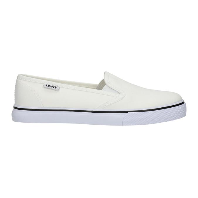 Ladies' slip-ons tomy-takkies, white , 589-1171 - 15