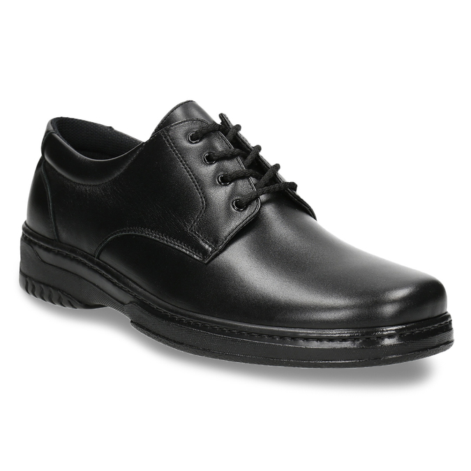 Men's shoes with a distinctive sole, black , 824-6540 - 13