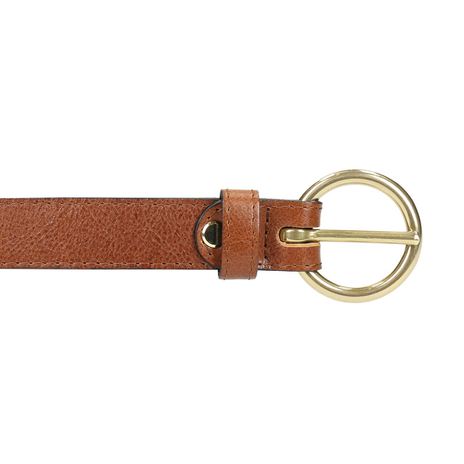 Ladies' brown leather belt bata, brown , 954-4197 - 26