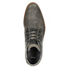 Grey leather ankle boots bata, gray , 826-2912 - 26