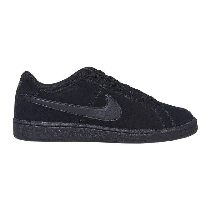 Men's leather sneakers nike, black , 803-6302 - 15