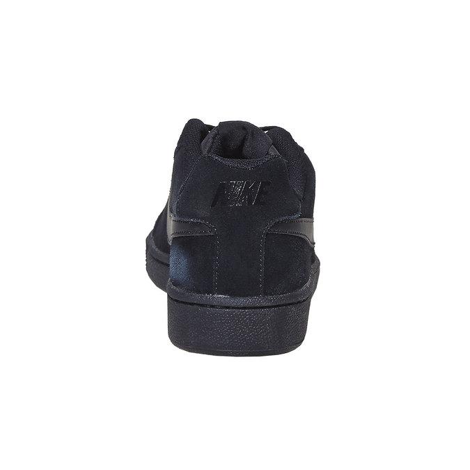 Men's leather sneakers nike, black , 803-6302 - 17