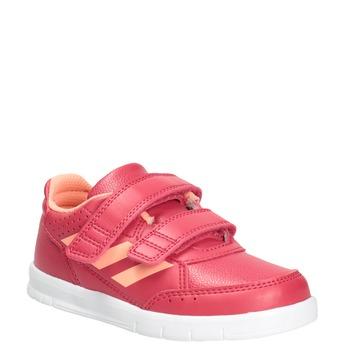 Children's Hook-and-Loop Sneakers adidas, pink , 101-5161 - 13