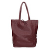 Burgundy leather Shopper handbag bata, red , 964-5522 - 26