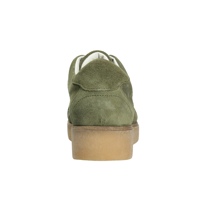 Ladies' leather khaki sneakers bata, green, 523-7604 - 17