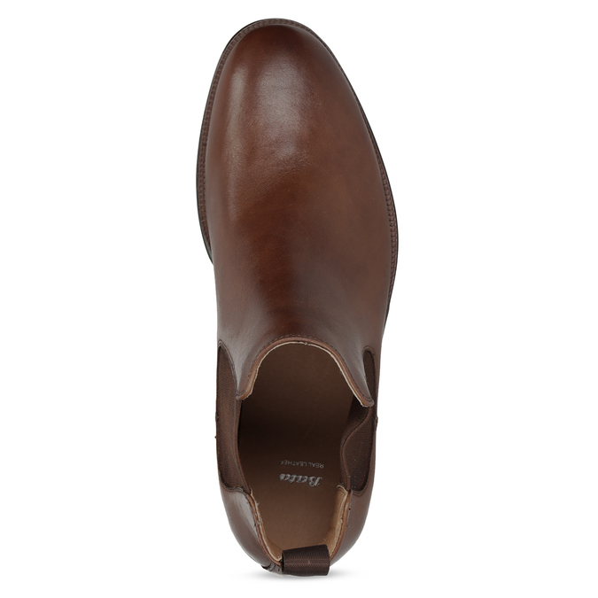 Brown leather Chelsea Boots bata, brown , 896-3400 - 17
