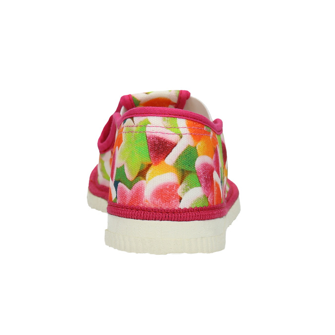 Girls' patterned slippers bata, pink , 279-5122 - 16