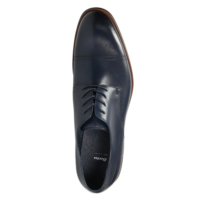 Casual leather shoes blue bata, blue , 826-9681 - 26