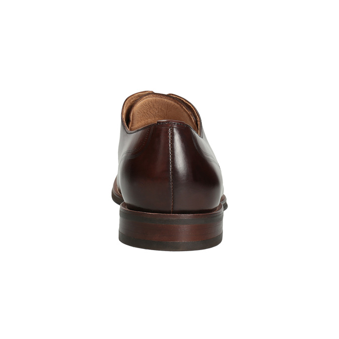 Men's brown leather shoes bata, brown , 826-4681 - 15