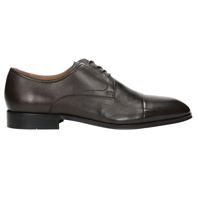 Brown leather Derby shoes bata, brown , 824-4406 - 15
