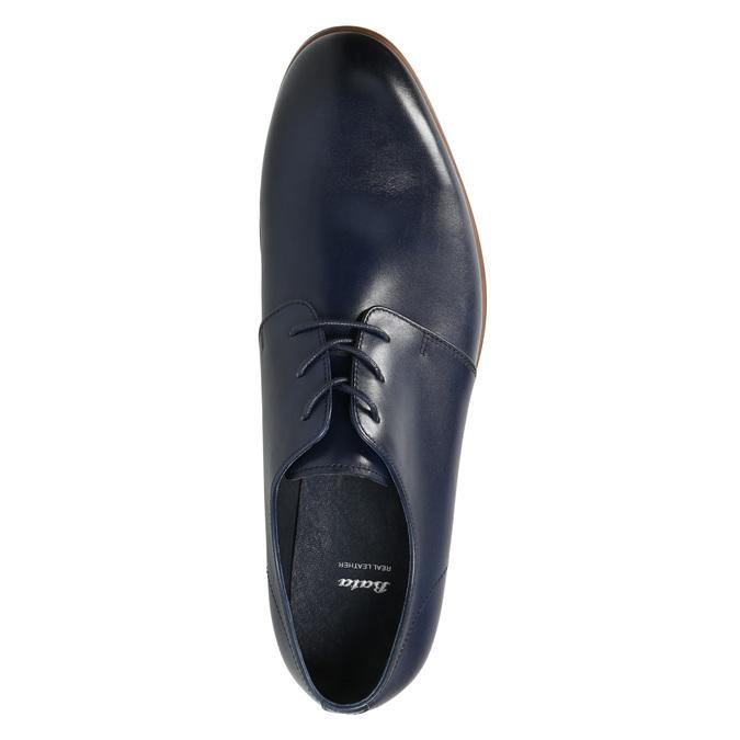 Blue leather shoes bata, blue , 826-9680 - 26
