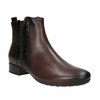 Ankle Boots with Texture gabor, brown , 516-3114 - 13