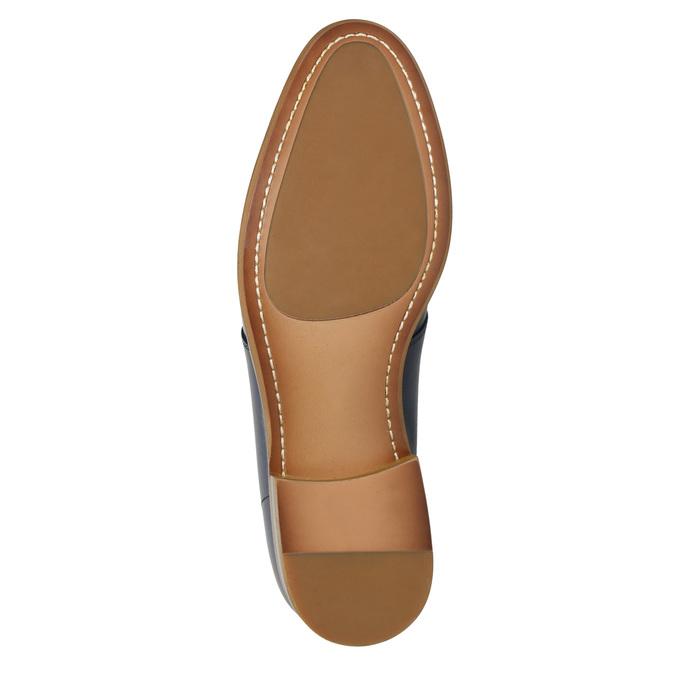 Blue leather shoes bata, blue , 826-9680 - 19