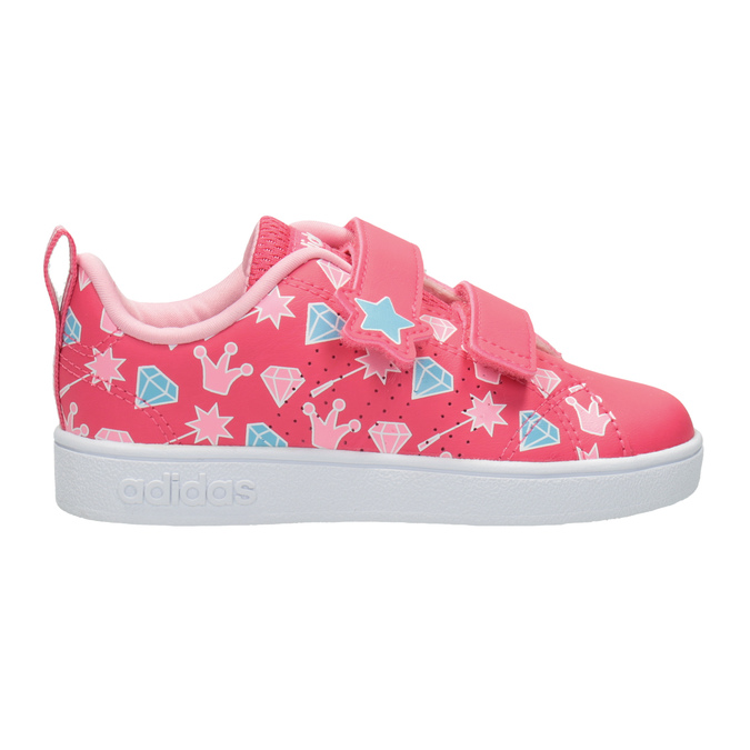 Girls' Sneakers with Printed Motif adidas, pink , 101-5533 - 26