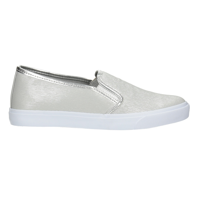 Silver Ladies' Slip-Ons north-star, silver , 511-1605 - 26