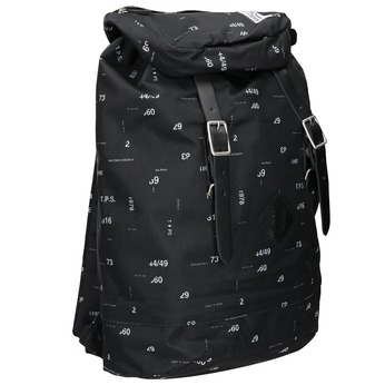 Backpack with Print and Buckles, black , 969-6076 - 13