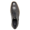Casual textured leather shoes bata, gray , 826-2612 - 19