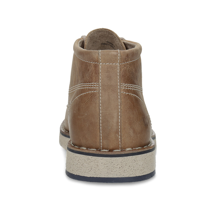 Leather ankle boots on a distinctive outsole weinbrenner, brown , 846-4658 - 15