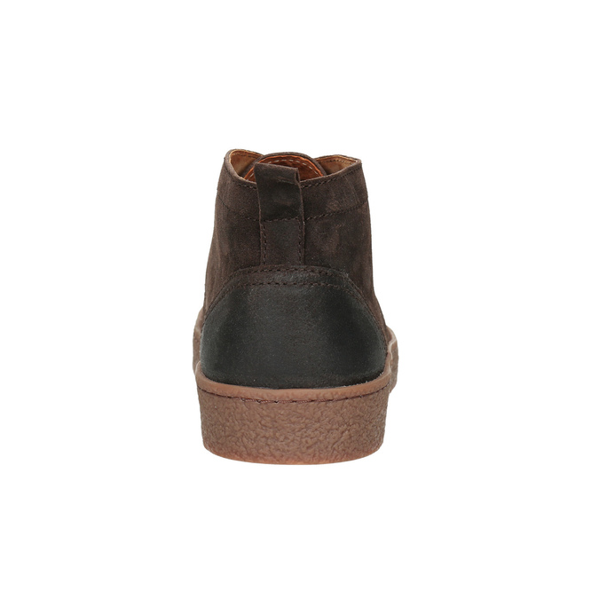 Men's leather ankle boots bata, brown , 846-4653 - 16