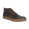 Men's leather ankle boots bata, brown , 846-4653 - 13