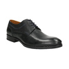 Leather shoes with blue stitching bata, black , 826-6915 - 13