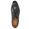 Leather shoes with blue stitching bata, black , 826-6915 - 26