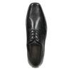 Black leather shoes bata, black , 824-6600 - 26