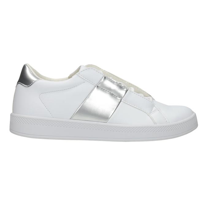 Ladies' White Sneakers, white , 501-1171 - 26