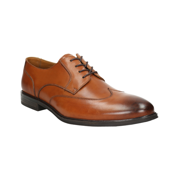 Men's leather Ombré shoes bata, brown , 826-3914 - 13