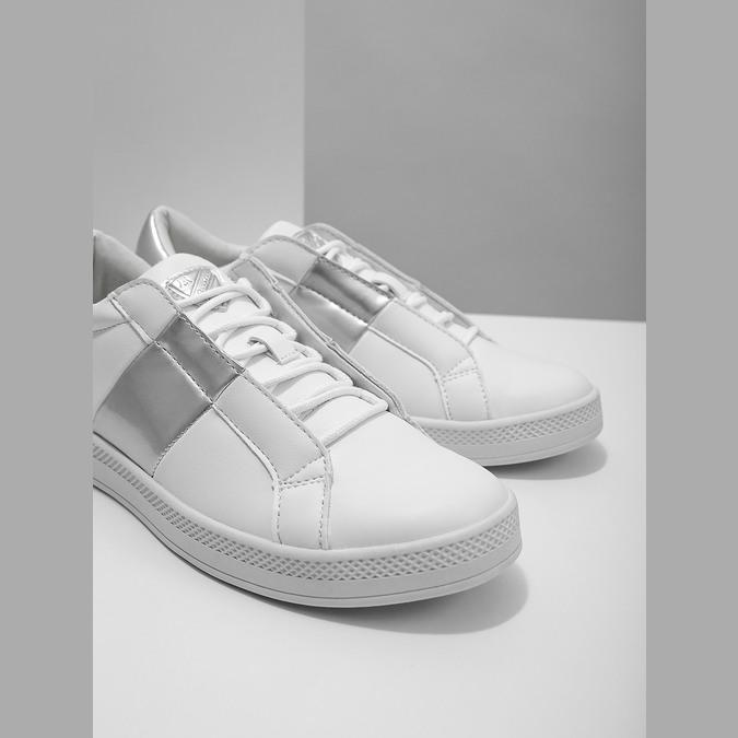 Ladies' White Sneakers, white , 501-1171 - 14