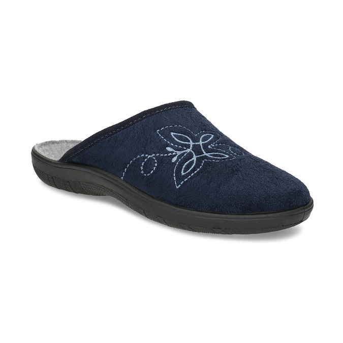 Ladies' Blue Slippers bata, blue , 579-9621 - 13