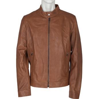 Men's Leather Jacket bata, multicolor, 974-0154 - 13