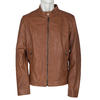 Men's Leather Jacket bata, multicolor, 974-0154 - 13