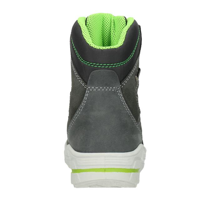 Children's Leather Winter Boots weinbrenner-junior, gray , 493-2613 - 16