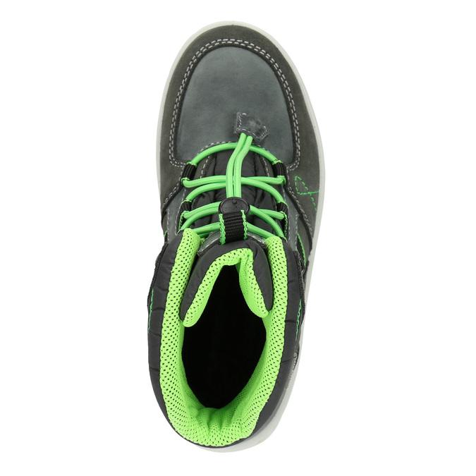Children's Leather Winter Boots weinbrenner-junior, gray , 493-2613 - 15