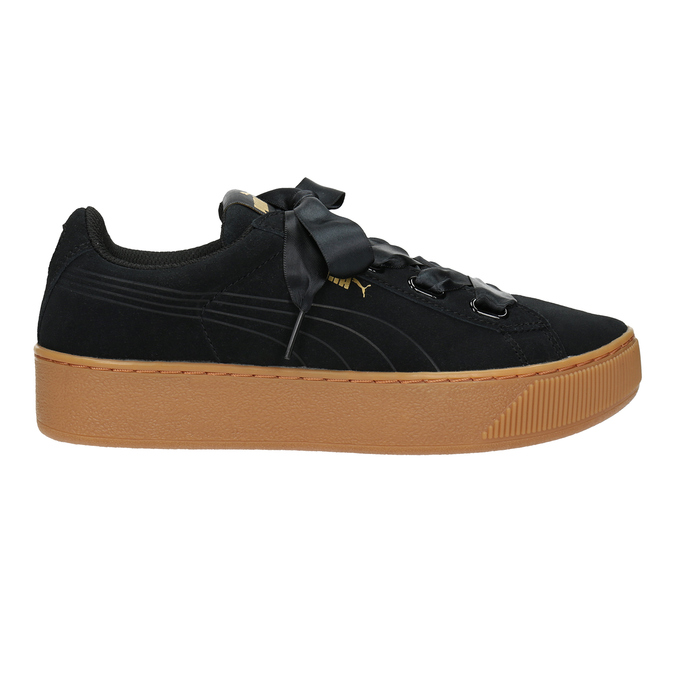 Ladies' Leather Sneakers puma, black , 503-6169 - 26