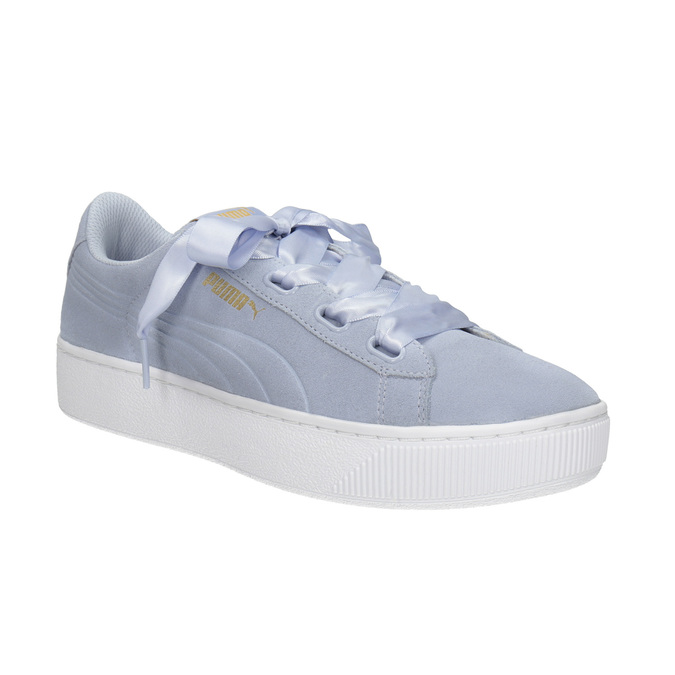 Ladies' Leather Sneakers puma, blue , 503-9169 - 13