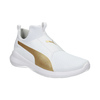White Ladies' Sneakers with Gold Stripe puma, white , 509-1200 - 13